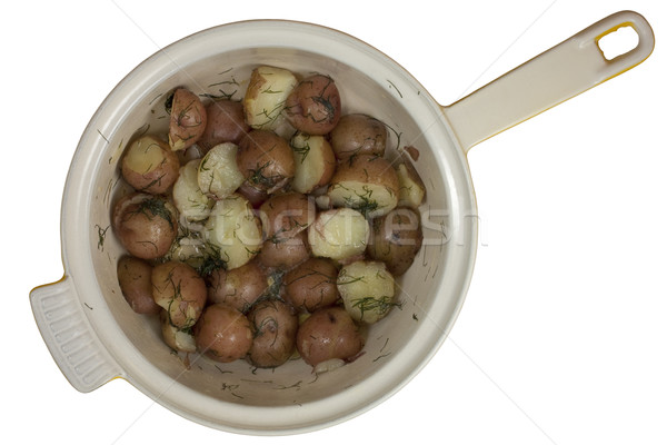 freshly cooked young red potatos in a pot Stock photo © PixelsAway