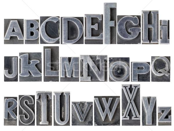 alphabet in mixed metal type Stock photo © PixelsAway