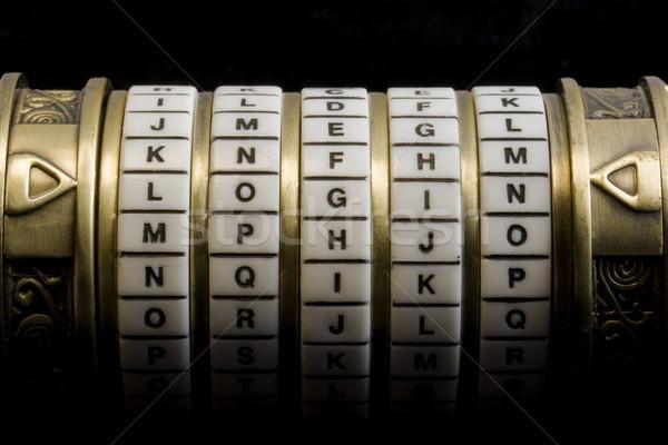 Anmelden Kennwort Kombination Puzzle Feld Wort Stock foto © PixelsAway