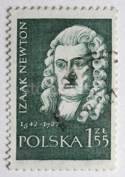 Portrait of Sir Isaac Newton on a post stamp Stock photo © PixelsAway