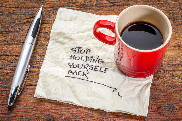 stop holding yourself back Stock photo © PixelsAway