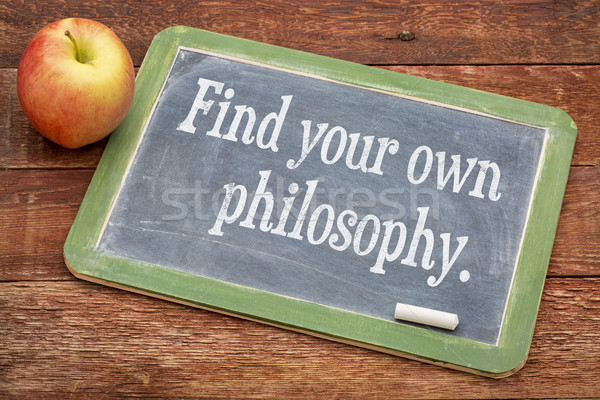 Find your own philosophy on blackboard Stock photo © PixelsAway