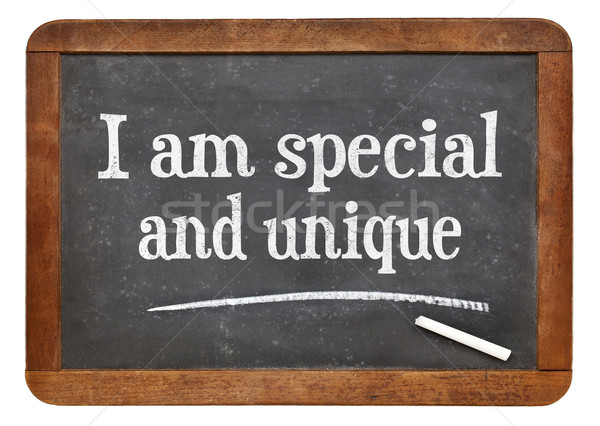 I am special and unique - affirmation Stock photo © PixelsAway