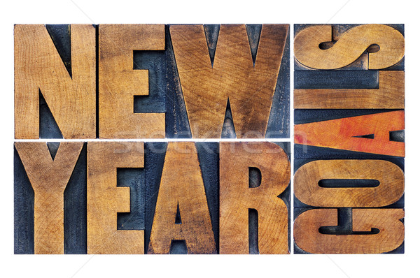 New Year goals in wood type Stock photo © PixelsAway