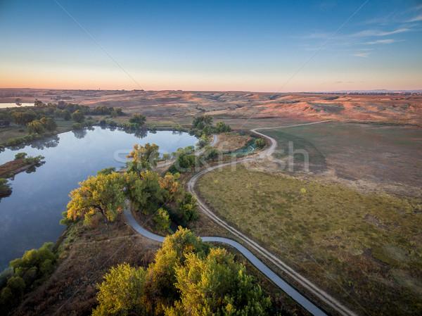 sunrise over Poudre RiverTrail Stock photo © PixelsAway