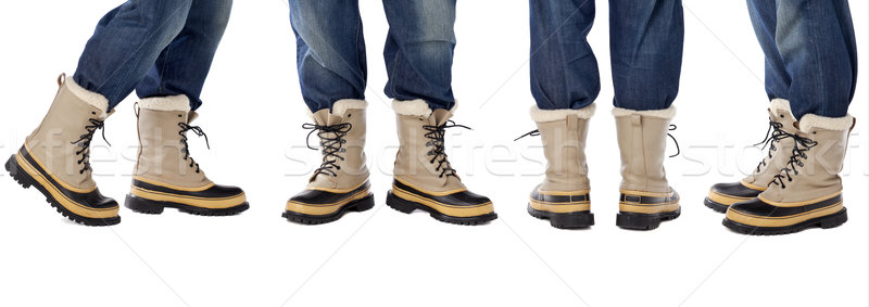 blue jeans and snow boots Stock photo © PixelsAway