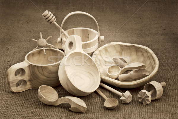 folk wood craft from Poland still life Stock photo © PixelsAway