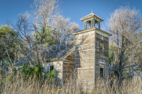 古い 捨てられた 農村 木 ツリー 建物 ストックフォト © PixelsAway
