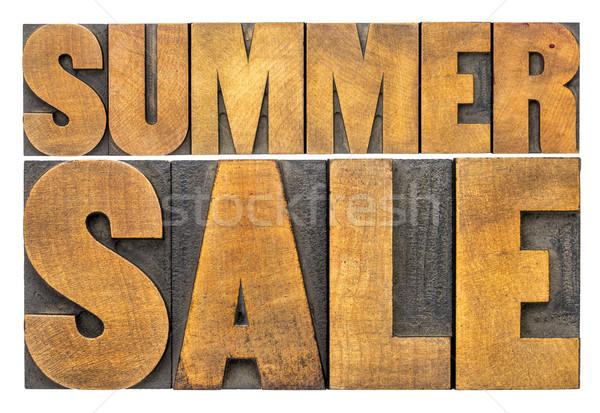 summer sale - word abstract in wood type Stock photo © PixelsAway