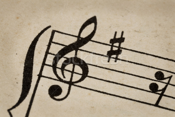 treble clef - music concept Stock photo © PixelsAway