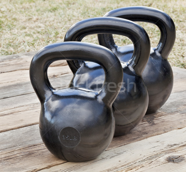 black iron kettlebells Stock photo © PixelsAway