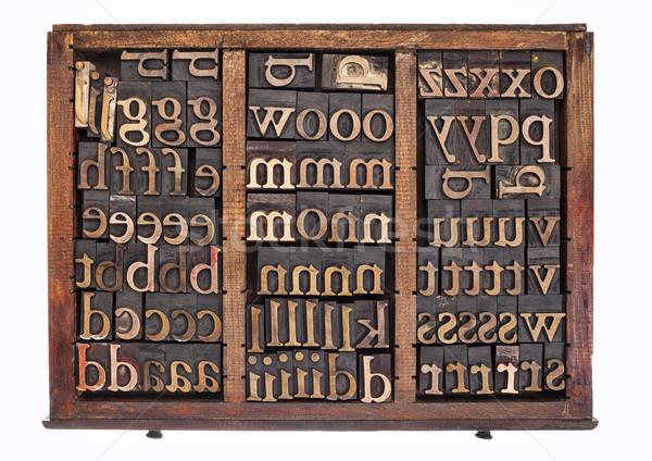 wood type in typesetter box Stock photo © PixelsAway