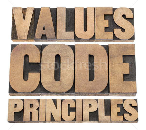 values, code, principles Stock photo © PixelsAway