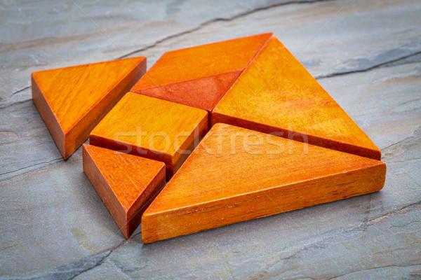 seven tangram  puzzle pieces Stock photo © PixelsAway