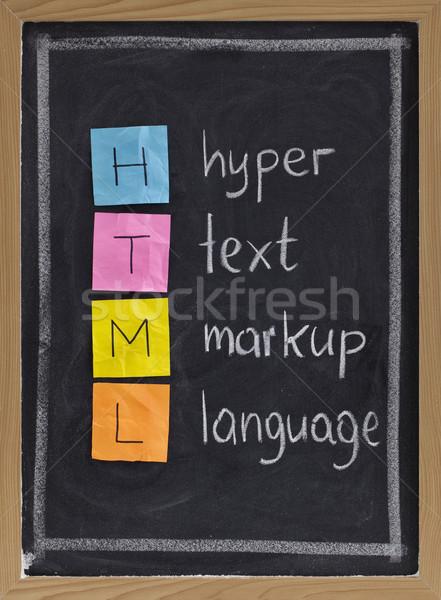 文字 言語 html 頭字語 黒板 色 ストックフォト © PixelsAway