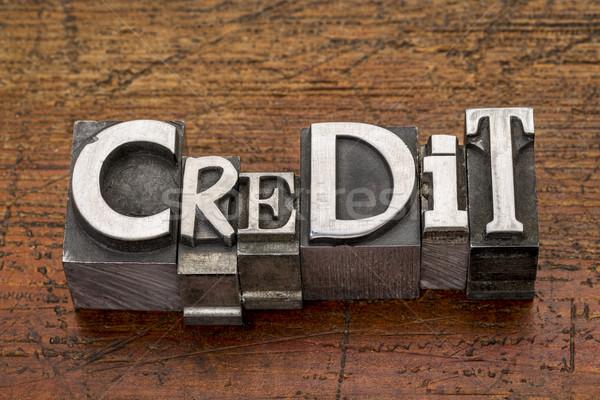 credit word in metal type Stock photo © PixelsAway