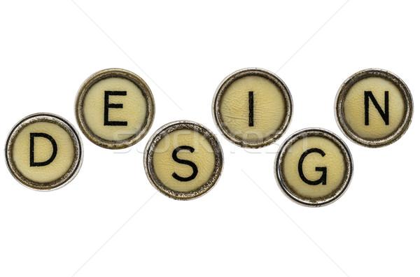 design word in typewriter keys Stock photo © PixelsAway