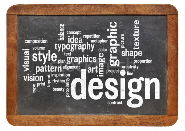 Design graphique nuage de mots vintage design communication noir Photo stock © PixelsAway