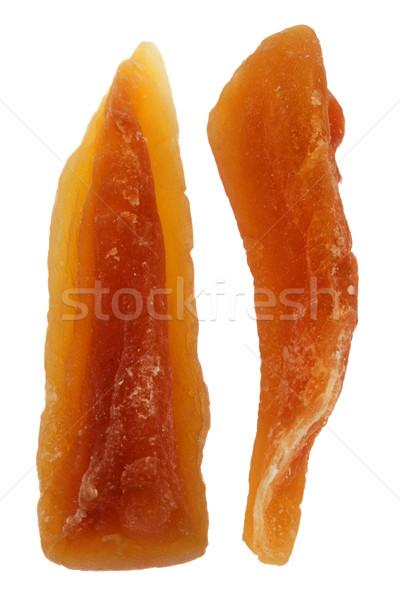 Séché deux fruits isolé blanche orange Photo stock © PixelsAway