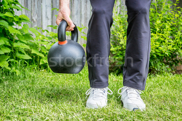 ケトルベル トレーニング フィットネス 鉄 ストックフォト © PixelsAway