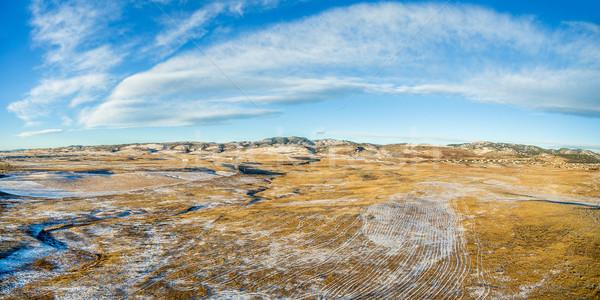 aerial panorama of Colorado foothills Stock photo © PixelsAway