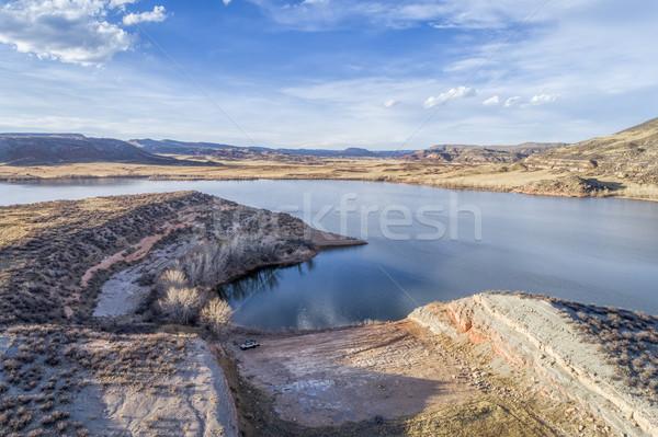 aerial landscape of northern Colorado Stock photo © PixelsAway