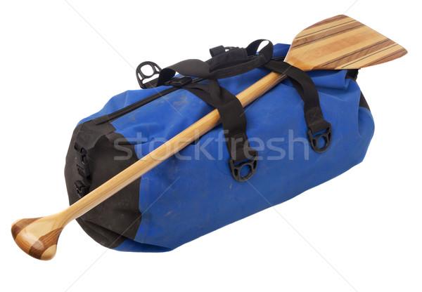 canoe paddle and waterproof duffel Stock photo © PixelsAway