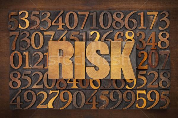 ストックフォト: リスク · 言葉 · 木材 · タイプ · 文字
