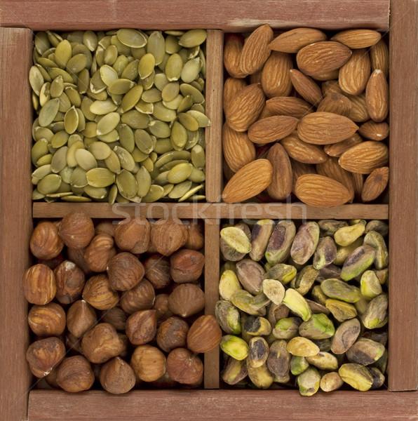 Pistache noix graines de citrouille quatre Photo stock © PixelsAway