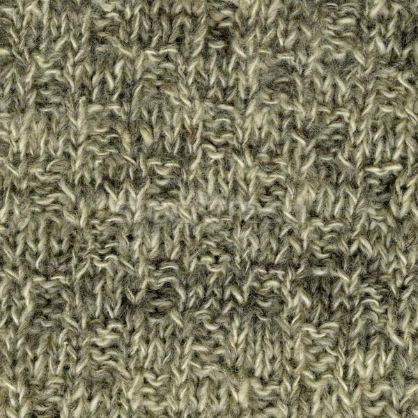 Handgemaakt gebreid wol textuur witte Stockfoto © PixelsAway
