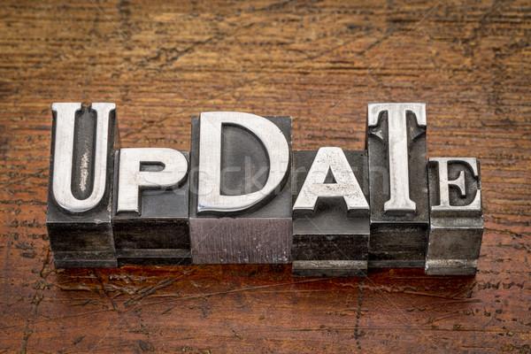 update word in metal type Stock photo © PixelsAway