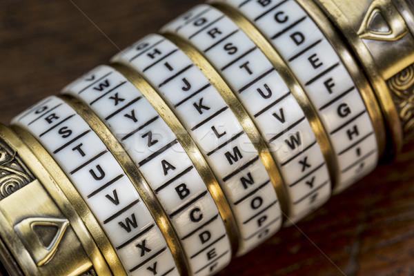 Wartość słowo hasło połączenie puzzle polu Zdjęcia stock © PixelsAway