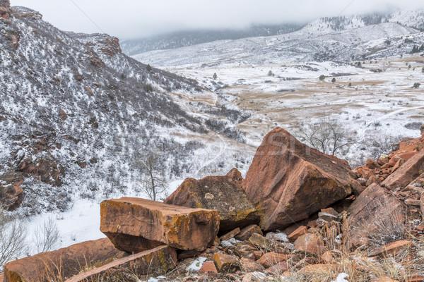 snowstorm over Colorado foothills Stock photo © PixelsAway
