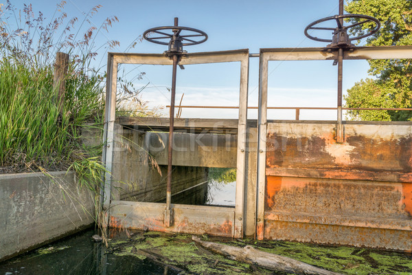 gates of irrigation channel Stock photo © PixelsAway