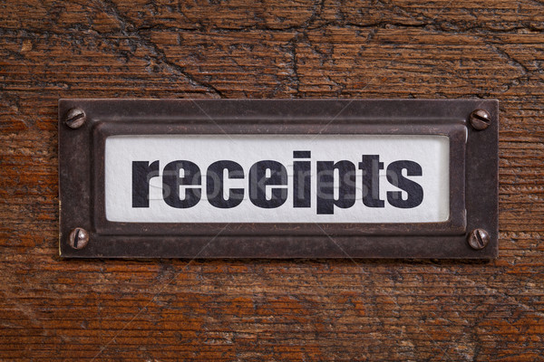 receipts - file cabinet label Stock photo © PixelsAway