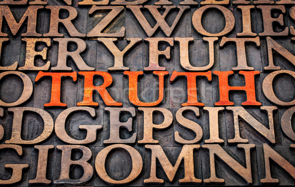 真実 言葉 抽象的な 木材 タイプ 印刷 ストックフォト © PixelsAway