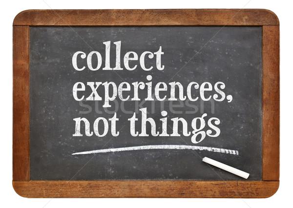 Experiência não coisas inspirado conselho lembrete Foto stock © PixelsAway