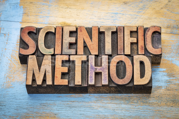 scientific method word abstract in wood type Stock photo © PixelsAway