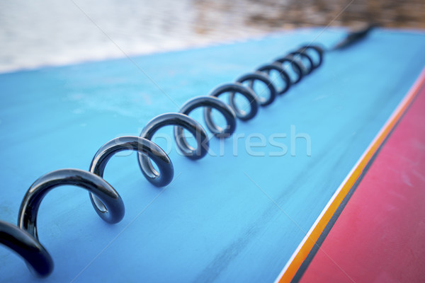 coil leash on paddleboard Stock photo © PixelsAway