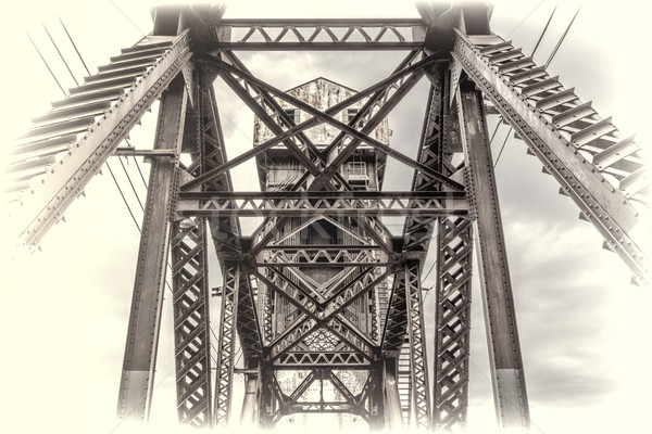 Vintage ferrovia ponte pormenor histórico Missouri Foto stock © PixelsAway