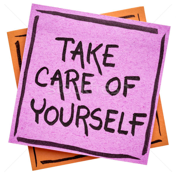 Take care of yourself reminder note Stock photo © PixelsAway