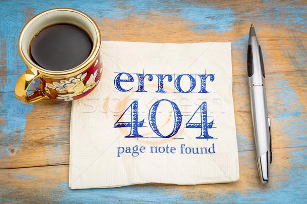 Errore di 404 pagina non web segno Foto d'archivio © PixelsAway
