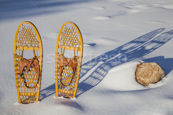 Bear Paw classic snowshoes Stock photo © PixelsAway