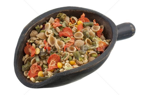 スクープ 全粒小麦 野菜スープ 素朴な 木製 ストックフォト © PixelsAway