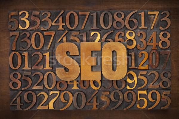 Seo acroniem hout type Stockfoto © PixelsAway