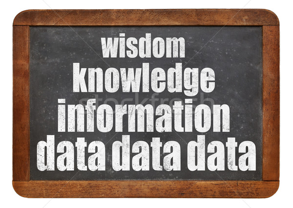 Gegevens kennis hiërarchie informatie wijsheid piramide Stockfoto © PixelsAway