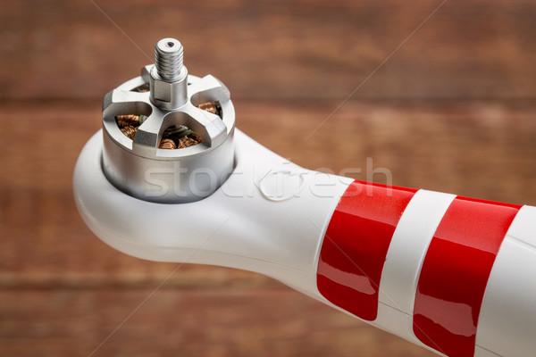 モータ 電気 腕 小 赤 木材 ストックフォト © PixelsAway