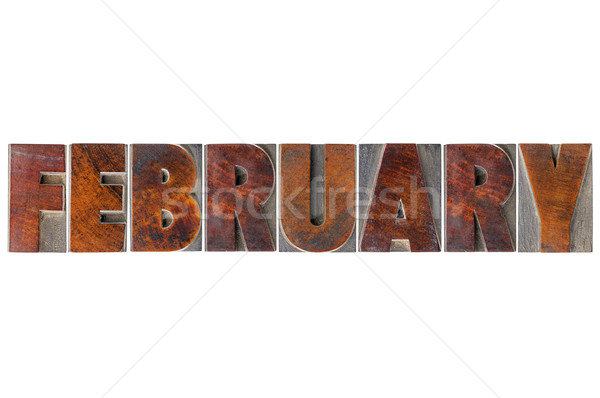 February month in wood type Stock photo © PixelsAway