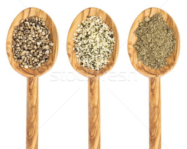 hemp seed, hearts and protein powder Stock photo © PixelsAway