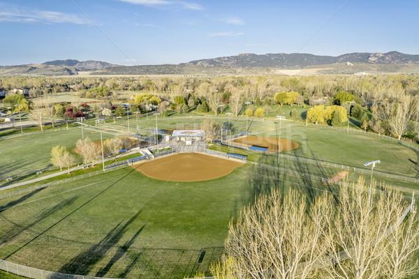 baseball fields aerail view Stock photo © PixelsAway